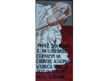 Pope john paul 2, Acrylic painting ,Religion, Catholicism, Bryan Harford