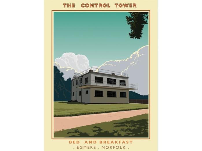 bryan harford, railway posters, posters, Norfolk, Control tower, Norfolk artists