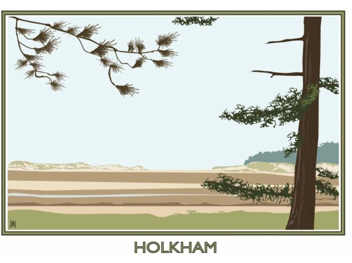 Posters, railway posters, Norfolk, North Norfolk